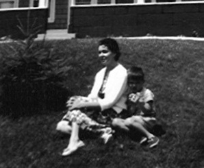 Mom & Donald Nana's Lawn