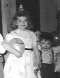Maurren and me one her birthday circa 1960