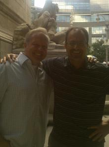 Michael and Me in Columbus Circle