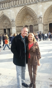 Maria and Me Outside Notre-Dame