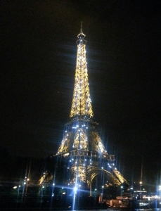 The Eiffel Tower twinkling from head to toe