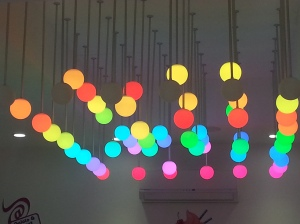 Ever-Changing Colored Lights Create a Feeling of Fantasy